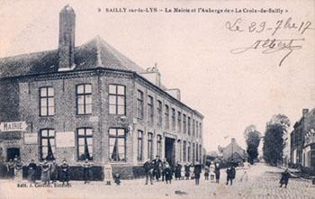 La mairie de Sailly-sur-la-Lys